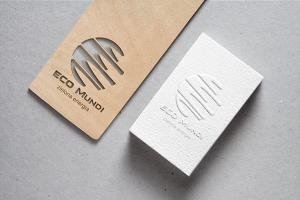 2-Cutout Wood & Embossed B-Card MockUp